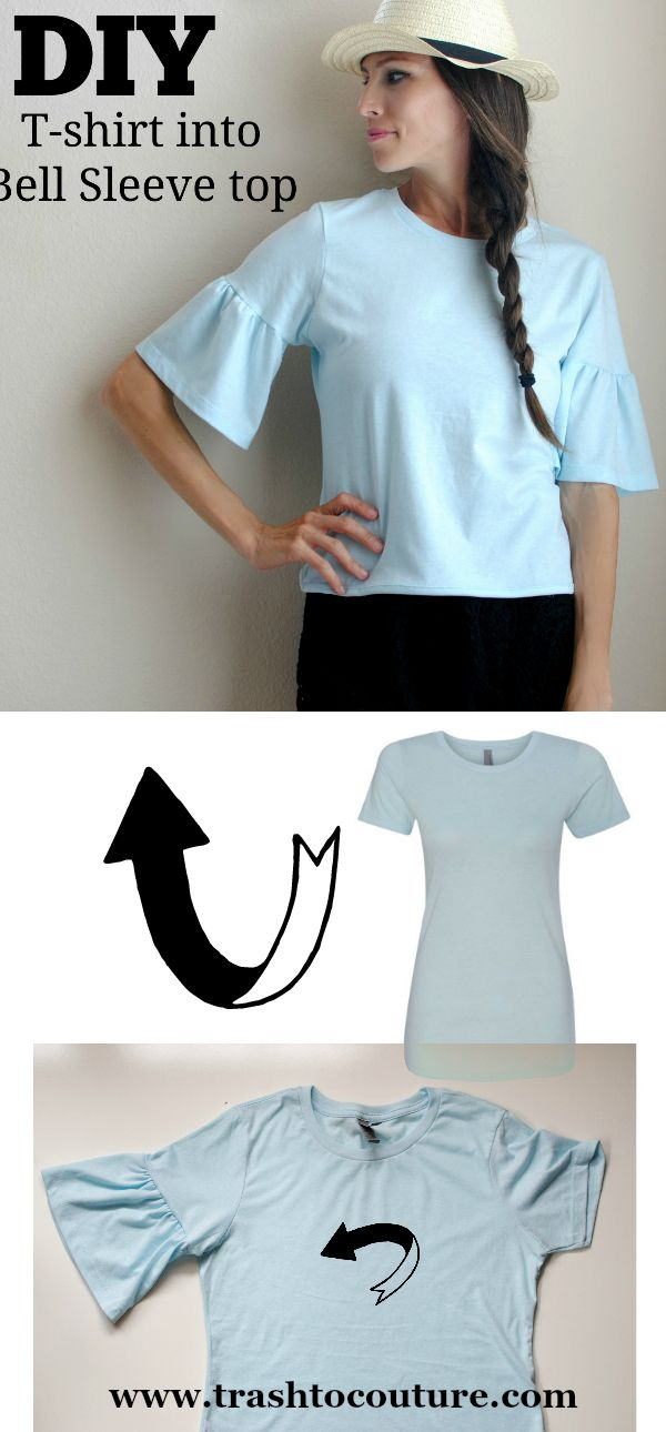 How to update a t-shirt into a Bell Sleeve top
