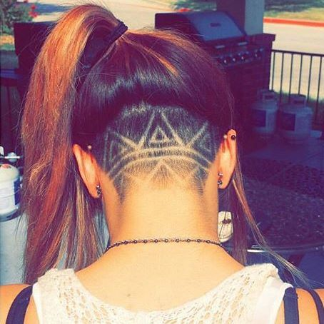 Shave, aztec, unique hair style, back shave, #hairinspiration