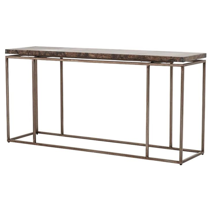 Rollins Industrial Loft Bronze Iron Console Table | Kathy Kuo Home