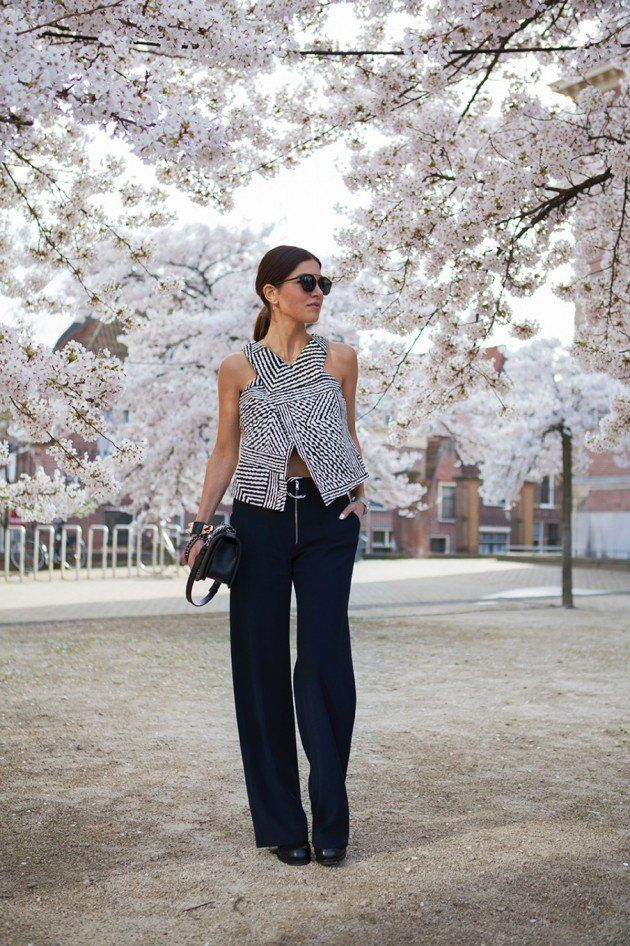 Fashion Tips Of How To Wear Wide Leg Pants