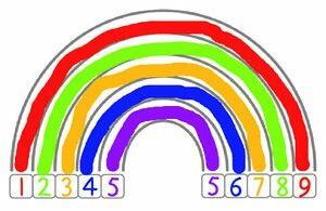 Regenboog van de vriendjes van 10