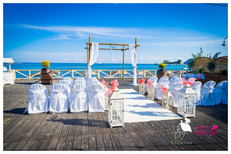 The lovely Vezalis Beach Bar and Restaurant, perfect for a Zante wedding!