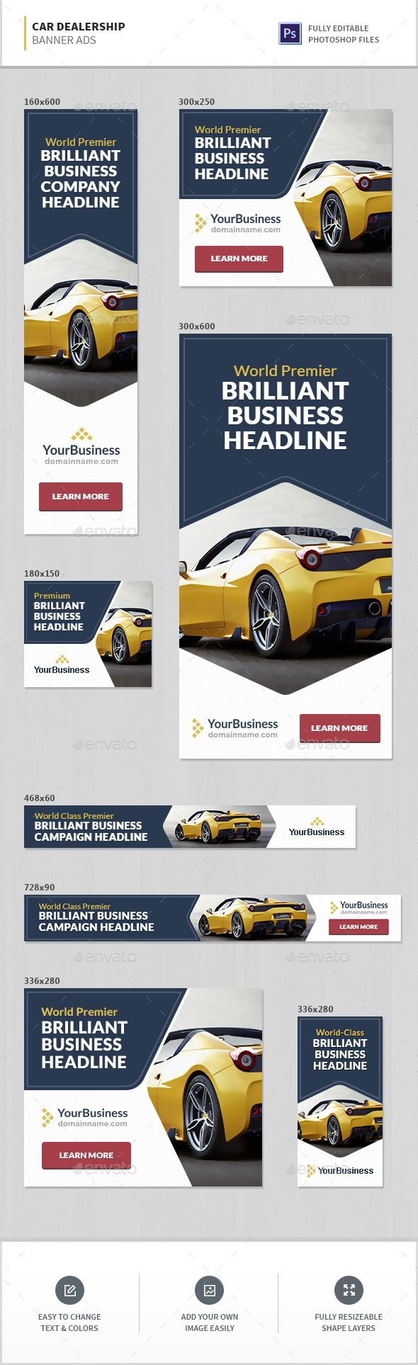 Design google banner ads - Car Dealership Banner Ads