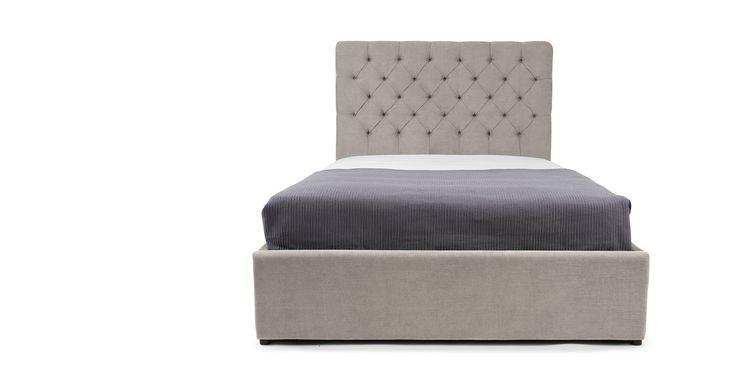 Skye, un lit king-size avec rangement, gris chouette | made.com