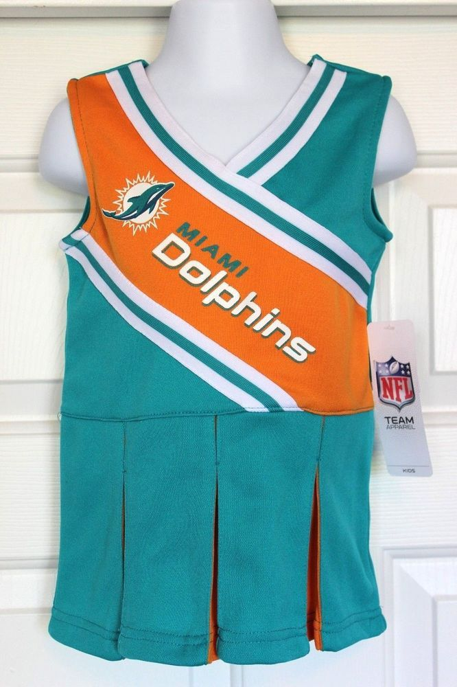 NWT - NFL Team Apparel MIAMI DOLPHINS Infants Toddler Cheerleader Dress Costume #NFLTeamApparel #MiamiDolphins