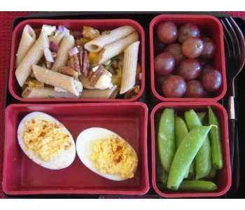 Deviled Eggs & Pasta Bento: -Your Favorite Pasta -Red Grapes ...