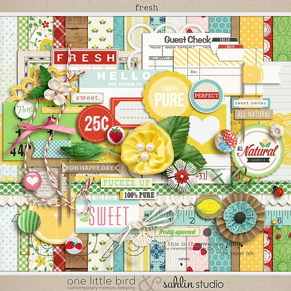 Oscraps :: Shop by Designer :: One Little Bird Designs :: Fresh (a collaboration)