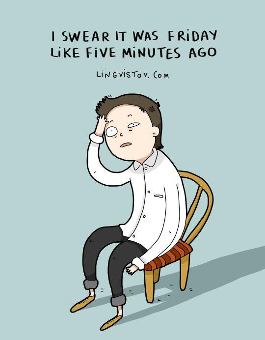 Lingvistov.com - #illustrations, #doodles, #joke, #humor, #cartoon, #cute, #funny, #comics, #greeting #cards, #joke, #drawing, #monday