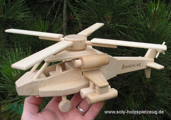 Spielzeug Hubschrauber aus Holz fur Kinder