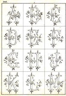 3 Monogram Alphabets from a Vintage Pattern Book
