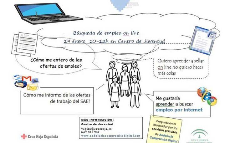 Desde la concejalía de Juventud del Ayuntamiento de Nerja se comunica que el próximo 19 de enero (viernes) tendrá lugar en el Centro deInformación Juvenil CIJN), situado en calle Cristo nº12, una Jornada de Búsqueda de Empleo On-line.  Este evento dará comienzo a las 10:00 hasta las 12:00 horas y estará impartido por Andalucía Compromiso Digital en colaboración con Cruz Roja y el CIJN.