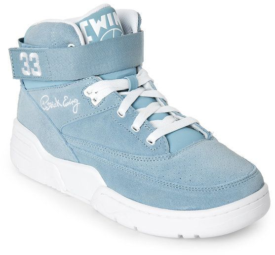 patrick ewing Dream Blue & White 33 Mid Sneakers