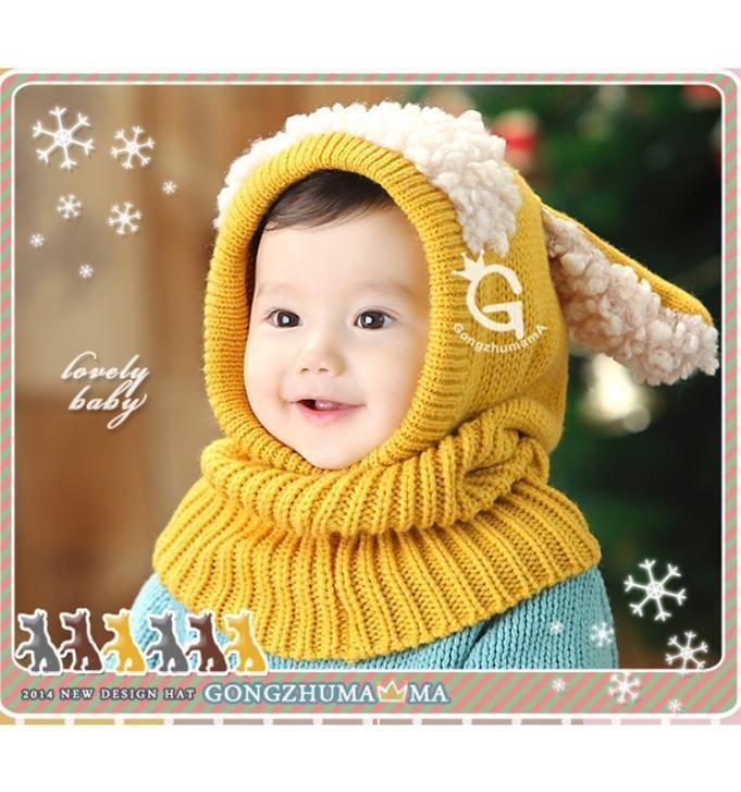 Купить товар2015 зима теплая шеи обернуть шарф дети цельный супер милый щенок шапки с шарфами мальчик девочка вязаный воротник шарф шляпа в категории Шапки и кепкина AliExpress.            Технические характеристики:                                     100% новый и высокое качество