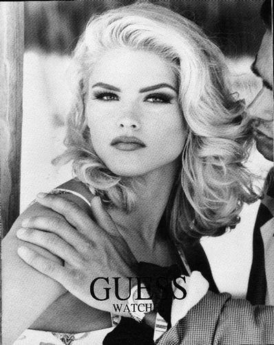 All the Guess Jeans ads of Anna Nicole Smith in Interview Magazine, via Flickr.