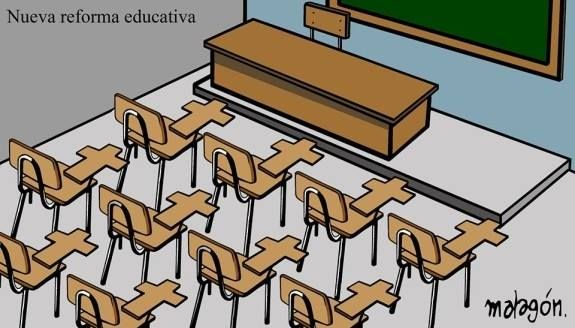 ¿Reforma educativa? Acabar con la educación pública y gratuita y eliminar los derechos laborales de los profesores es un criminal atentado contra el pueblo.