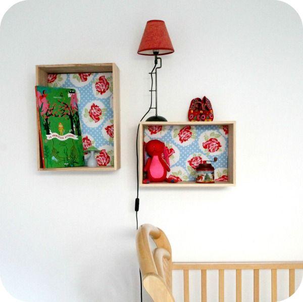 caisses vin accrocher au mur d coration vintage d o i t y o u r s e l f pinterest. Black Bedroom Furniture Sets. Home Design Ideas