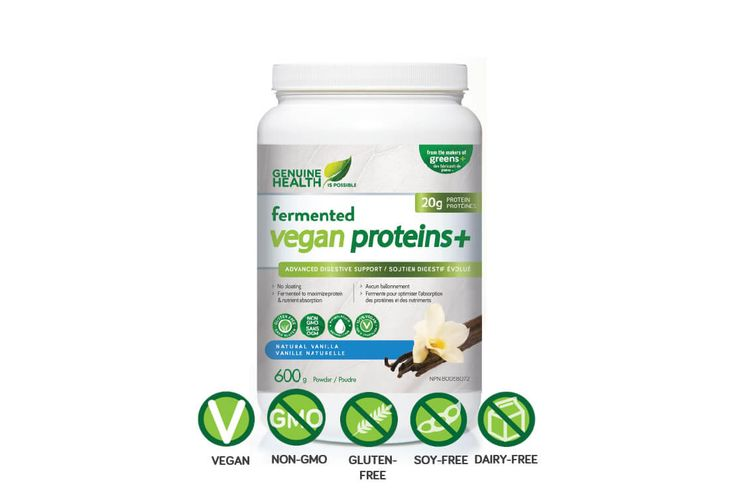 Genuine Health's Fermented Vegan Proteins+ is Joyous Health Approved! This is my go-to protein powder for smoothies and recipes. My favourite part is the that ALL of the ingredients are fermented, making it super easy to digest without any bloat.