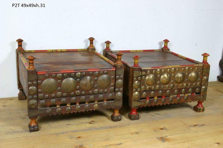 SUPER OCCASIONE!! Coppia Tavolini Pakistan (P2T) - Antiquariato Etnico Orientale