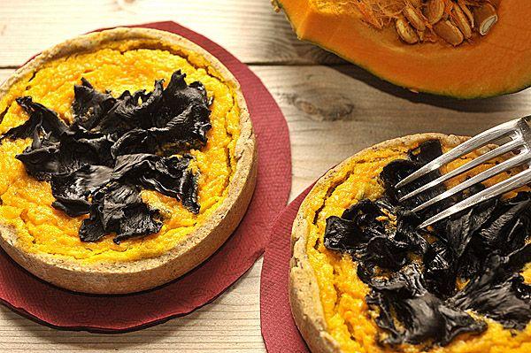Pumpkin & Horn of Plenty Mushrooms Quiche