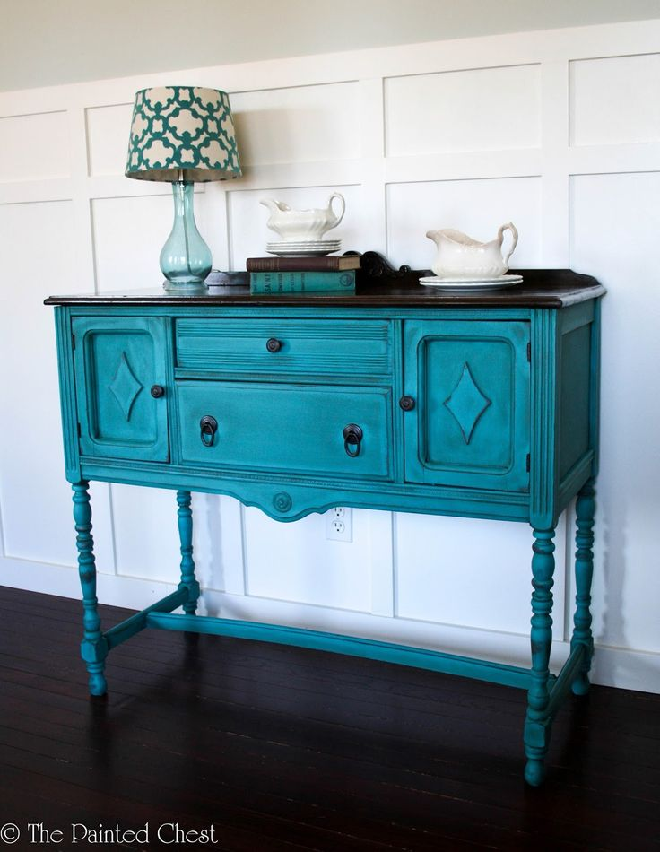 The Painted Chest: Antique Buffet Painted in Mermaid Tail DIY Paint - 497 Best Fabulous Furniture Images On Pinterest Beach Houses