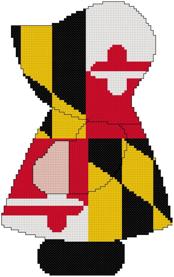 Miss Maryland Sue Cross Stitch by MartisXSDesigns on Etsy, $5.00