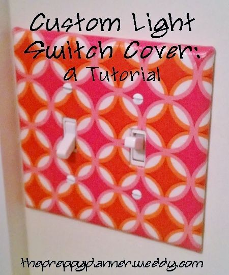 custom lightswitch cover diy