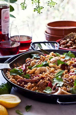Recipe: Karen Martini's Paella with Chicken, Chorizo and Calamari | The Essential Ingredient