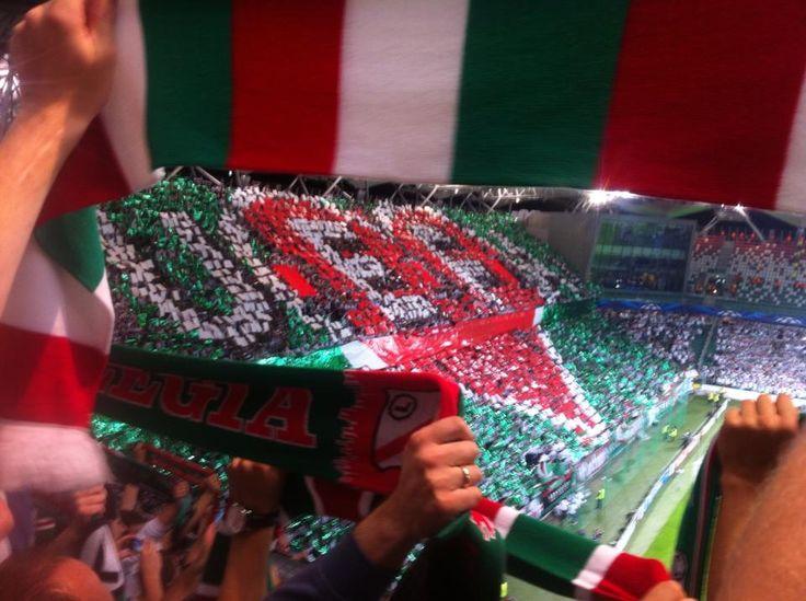 Rather ironic display by Legia Warsaw fans in response to recent UEFA bans.