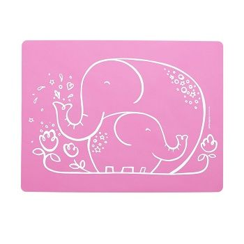 Elephant Hugs Placemat Pink $22.95 #sweetcreations #baby #toddlers #kids #feeding #feedme