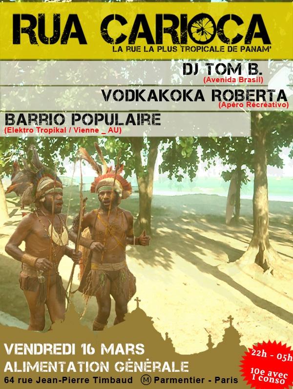 RUA CARIOCA, tropical party
