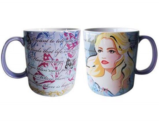 Walt Disney Cinderella Live Action Movie Mother's Message 14 oz Ceramic Mug NEW