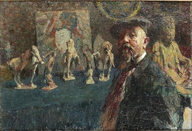 Kuba, Ludvik (1863-1956) - Self-Portrait with Chinese Collection (The National Museum, Prague, Czezh Republic) | Flickr - Photo Sharing!