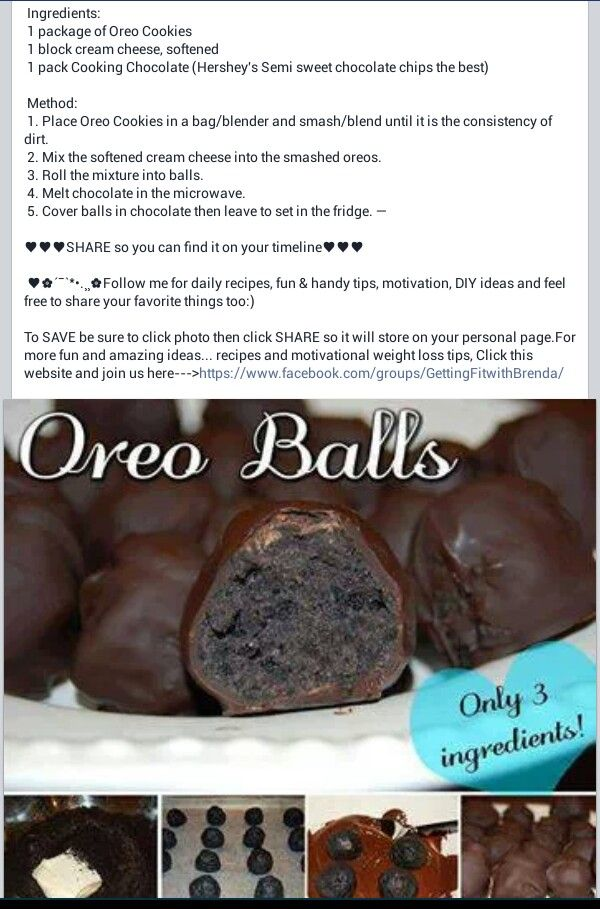 Oreo Balls. The best things ever & have been huge hits at parties whenever I bring them!