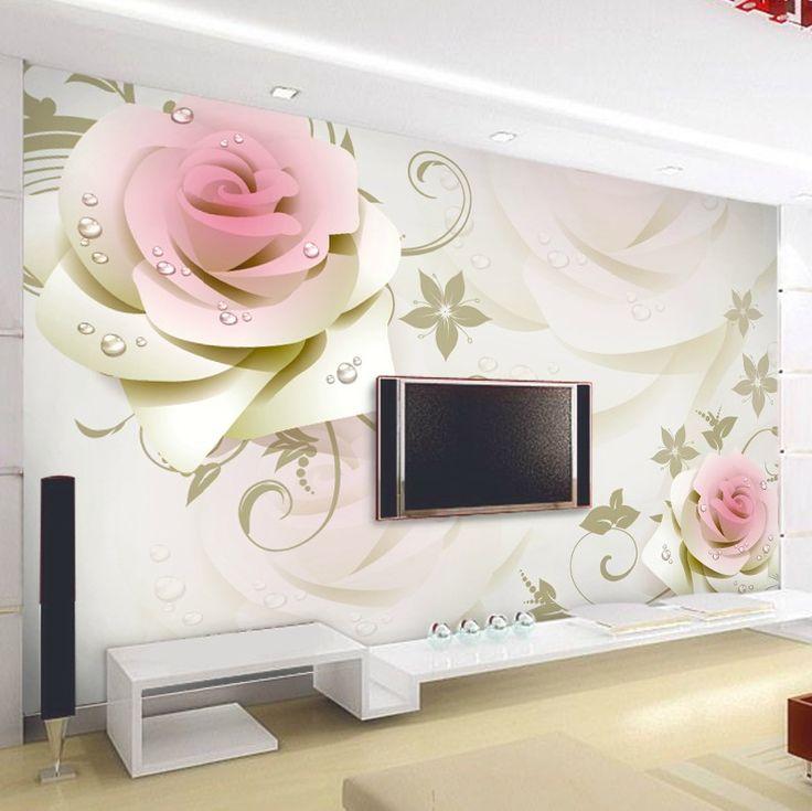 Giá rẻ Chất lượng cao Ảnh hình nền cho bức tường 3 d trẻ em Papel de parede hoa nhập khẩu Trung Quốc hiện đại trang trí tấm tường 3d tapeten, Mua Chất lượng hình nền trực tiếp từ Trung Quốc nhà cung cấp:  High quality papel de parede 3d Wallpaper for Walls 3 d papier peint 3d wall paper stereoscopic floral mural tv t