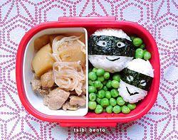 masked onigiri bento / 仮面おにぎりのお弁当