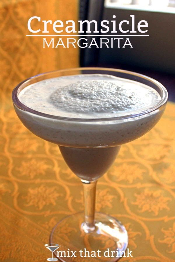 The Creamsicle Margarita is one of the simplest blended cocktail recipes out there, and what makes it really special is the vanilla ice cream. It's rich and thick, with flavors of orange and vanilla.