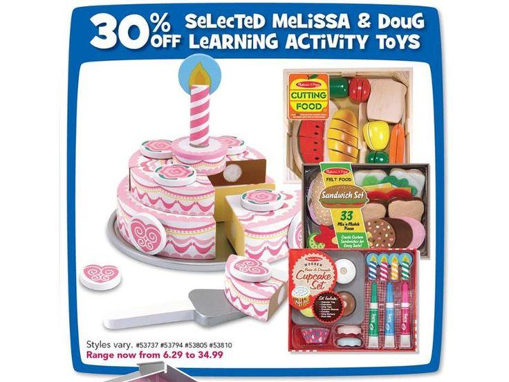 Selected Melissa & Doug Learning Activity Toys Range