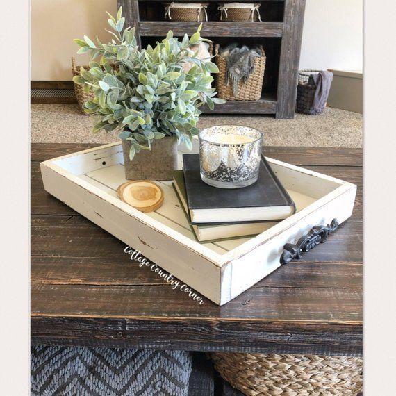 Magazine Tray Coffee Table Tray Magazine Tray Coffee Table Tray Rustic Wo Coffee Table Decor Living Room Coffe Table Decor Farmhouse Coffee Table Decor