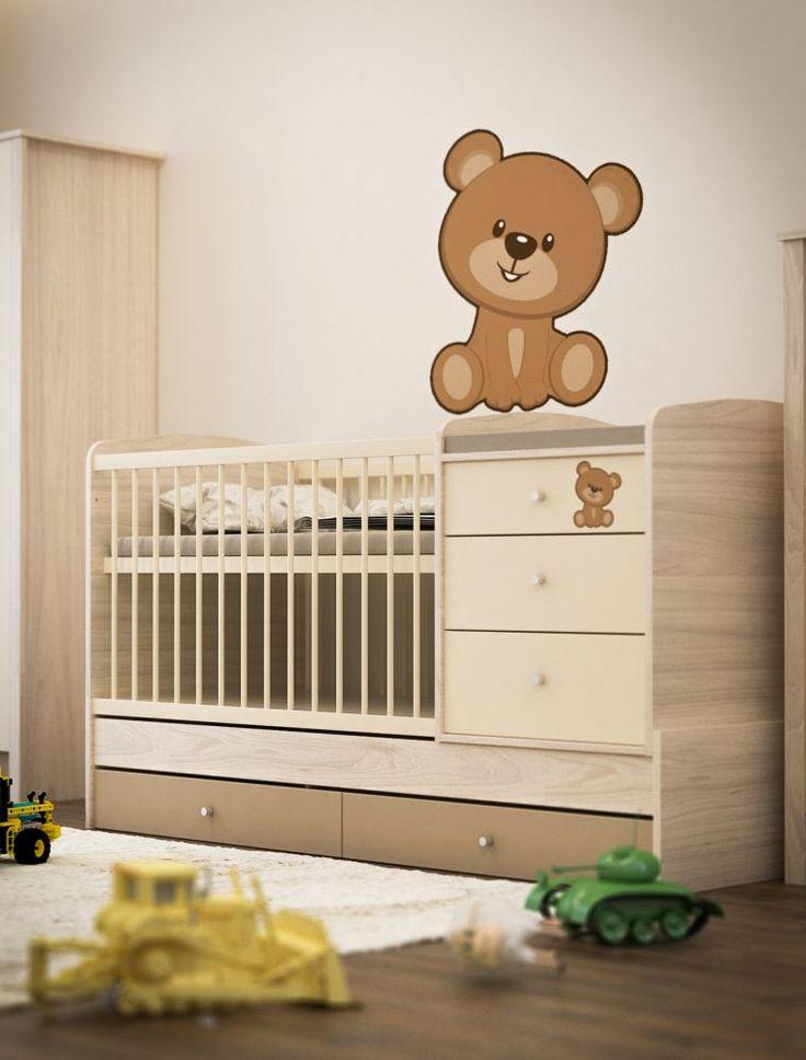 Todi Teddy kombiágy, Teddy heverővé átalakítható kombi kiságy, Zsebi Babaáruház