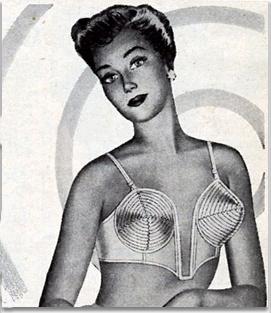 1949: Las mujeres comienzan a usar corpiño ajustado con copas en forma de cono. (vía @pa_recordar) #moda