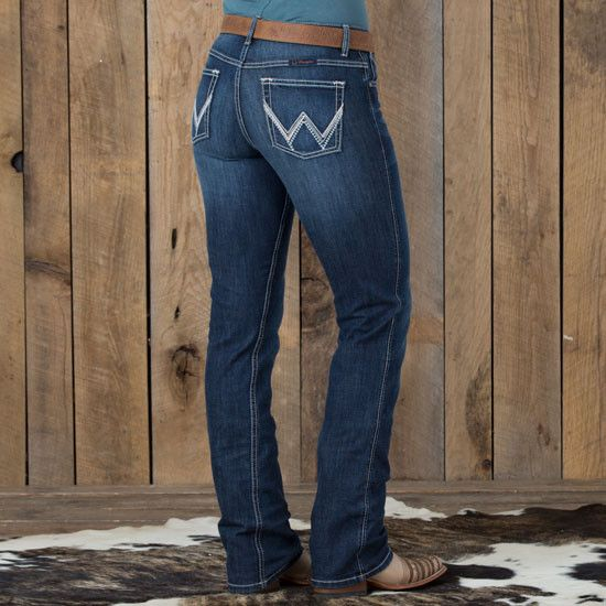 Wrangler Q-Baby Round Up Riding Jean- Spend the weekend relaxing with your horse in the Wrangler Q-baby Round Up Riding Jeans