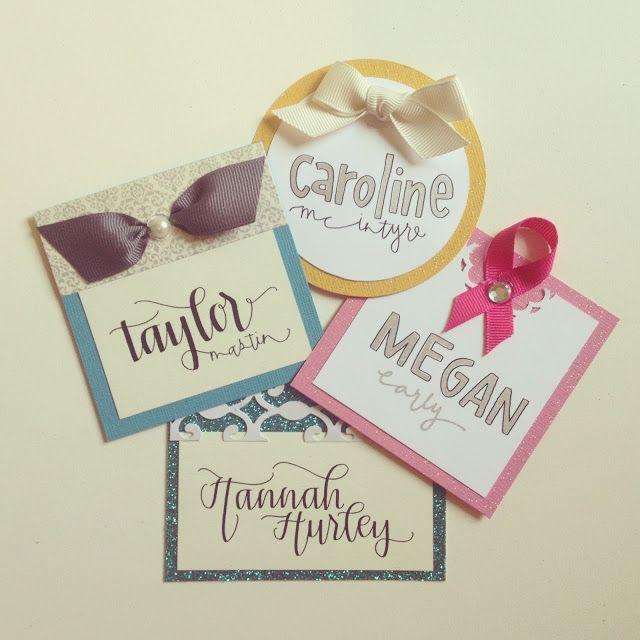Cute name tags!                                                                                                                                                                                 More