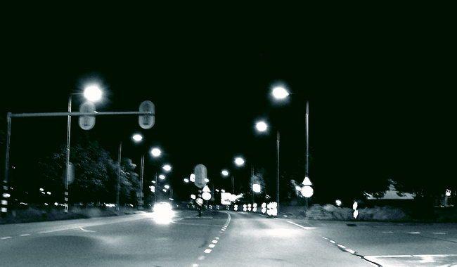 Nachtflug - Mit dem Rad nach Hause bei Einbruch der Dunkelheit. Nebenwirkungen der Winterzeitumstellung.