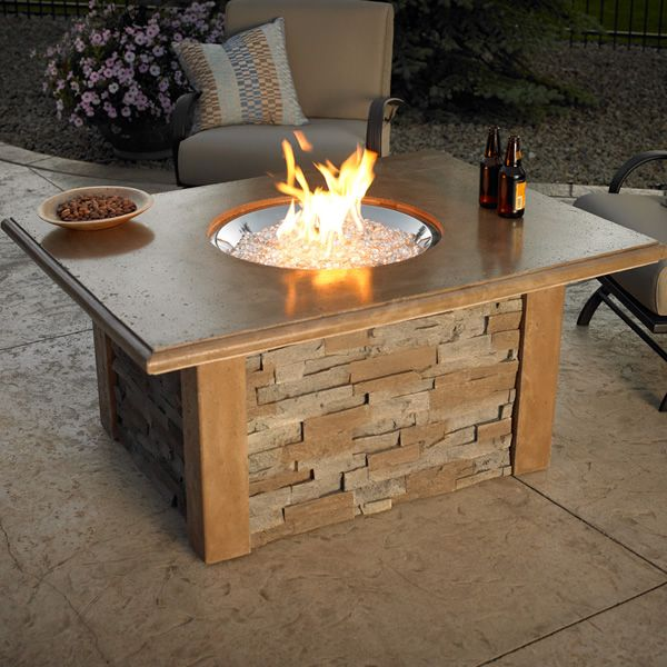 Sierra Fire Pit Table With Crystal Burner Woodlanddirect