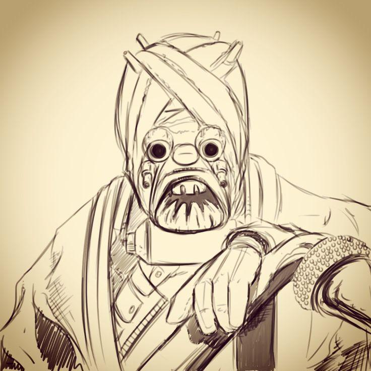 Tusken Raider #starwars #starscountdown21 #sketch #forceawakens #theforceawakens