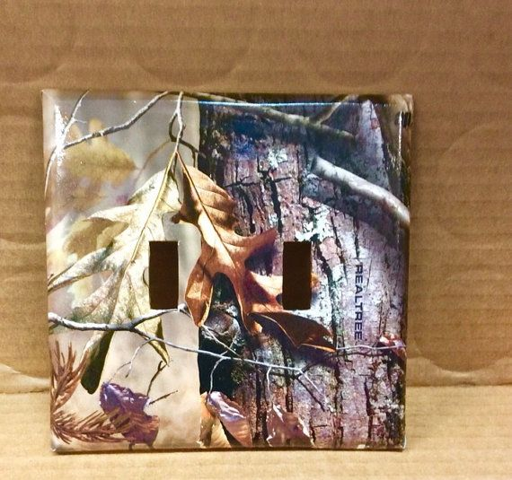 Real Tree Camo Double Light Switch Cover, Camouflage Switchplate