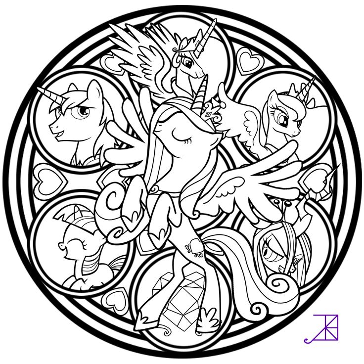 Stained Glass Princess Cadance Coloring Page By Akili Amethyst On Deviant Art