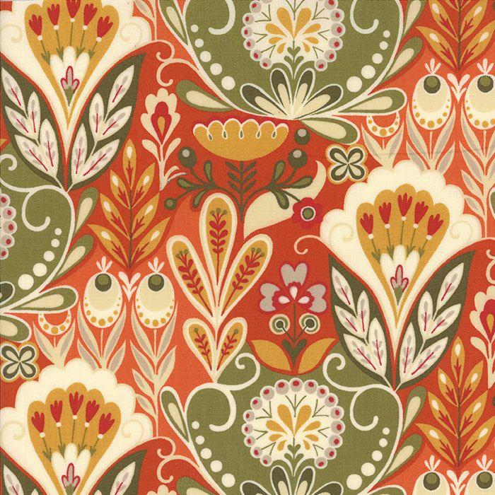 Allure Flourish Ginger - Sanae for Moda - 1 Yard Cut - 16100 13 - Autumn Fall Bohemian Fabric by Jambearies on Etsy https://www.etsy.com/listing/257642175/allure-flourish-ginger-sanae-for-moda-1