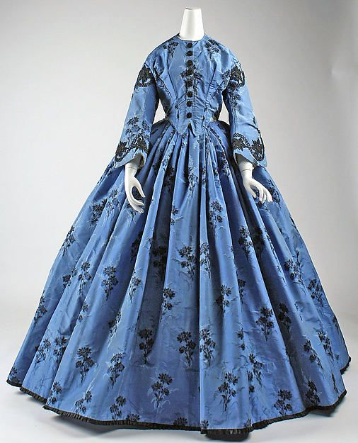 Dress - Dress Date: ca. 1863 Culture: French Medium: silk Dimensions: Length at CB: 63 in. (160 cm) Credit Line: Purchase, Judith and Ira Sommer Gift, 1999