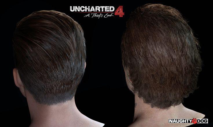 ArtStation - Uncharted 4 Characters' Hair, Yibing Jiang